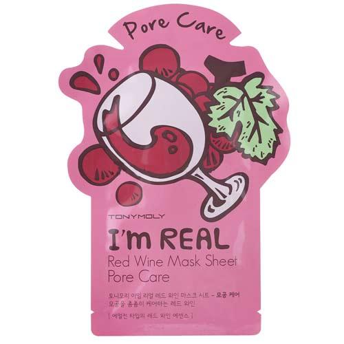 Маска для лица `TONYMOLY` I`M REAL с экстрактом красного вина 21 млМаски<br>Обновляет кожу, сужает расширенные поры, предотвращая их закупоривание, выравнивает тон лица. Подходит для людей с проблемной кожей. Натуральные компоненты ткани с приятной шелковой текстурой обеспечивают максимальное проникновение полезных веществ в кожу.<br>