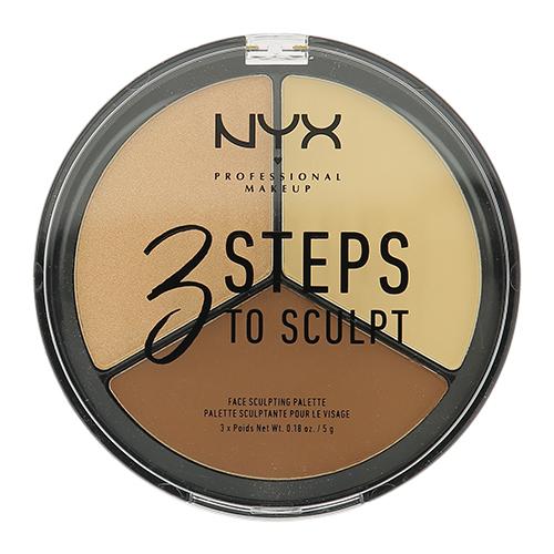 Купить Палетка для скульптурирования NYX PROFESSIONAL MAKEUP 3 STEPS TO SCULPT FACE тон 02 light, США/ USA