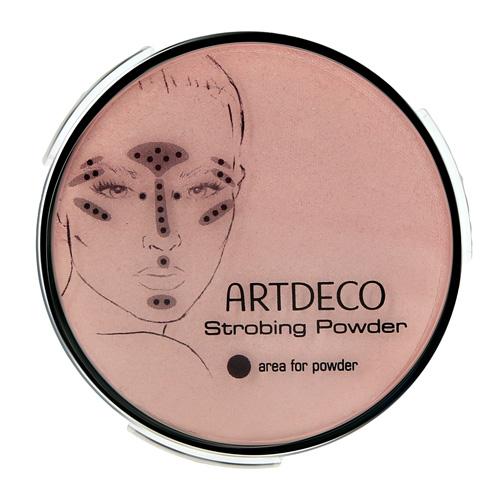 Пудра компактная для лица ARTDECO STROBING POWDER мягкое сияние сменный блок тон 4