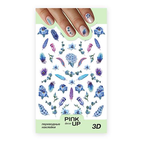 Наклейки для ногтей PINK UP DECOR 3D переводные тон 661 фото