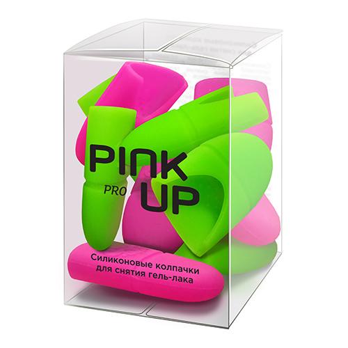 Силиконовые колпачки для снятия гель-лака PINK UP PRO