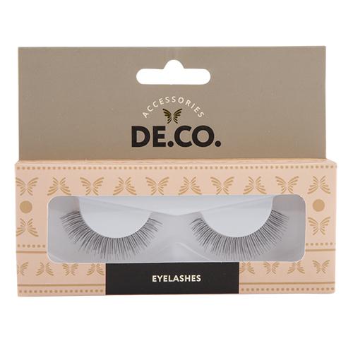 Накладные ресницы `DE.CO.` №109Накладные ресницы<br>Накладные ресницы придают глазам большую выразительность и подчеркивают макияж. Благодаря высококачественному материалу ресницы очень легкие, неощутимы на глазах и могут быть использованы длительное время.<br>