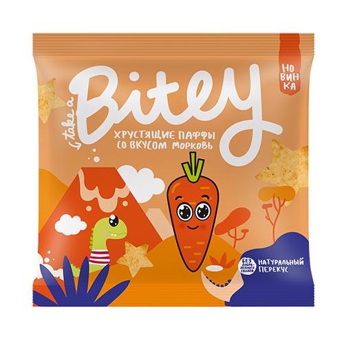 Экструдированные мультизлаковые фигурки паффы TAKE A BITEY со вкусом морковь 20 г