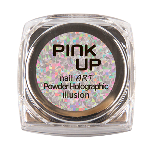 Втирка для ногтей `PINK UP` NAIL ART тон 16 Holographic Illusion 3 грДизайн ногтей<br>Зеркальная втирка для ногтей Pink UP, 3гр Предназначена для втирание в верзнее покрытие без липкого слоя поверх лака, гель-лака или геля.<br>