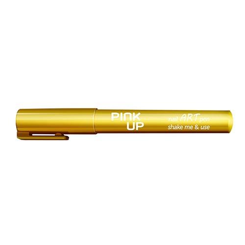 Фломастер для дизайна ногтей PINK UP NAIL ART PEN тон gold