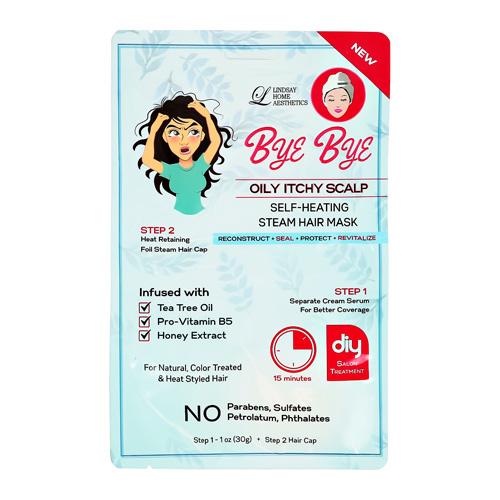 2-Ступенчатая система ухода за волосами LINDSAY BYE BYE против жирности волос сыворотка шапочка 30г + 1шт.