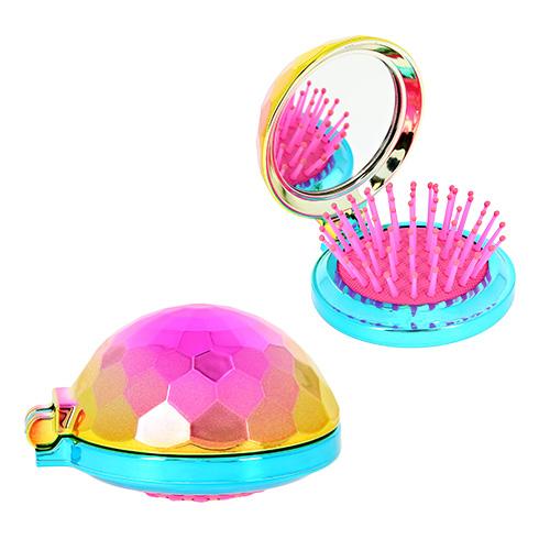 Купить Расческа с зеркалом LADY PINK разноцветная, КИТАЙ/ CHINA