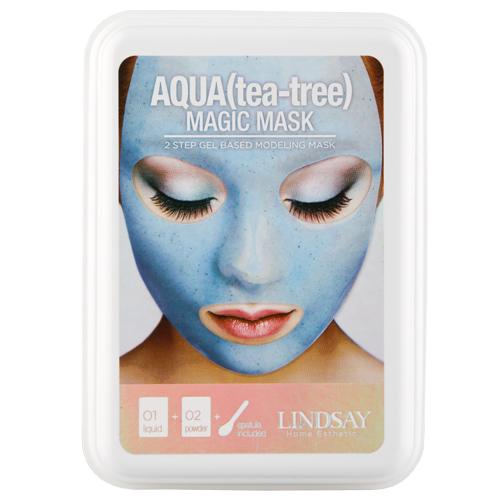 Маска для лица LINDSAY MAGIC MASK альгинатная моделирующая с экстрактом чайного дерева 65 г + 65 г.