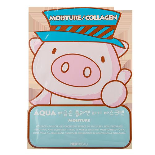 Маска для лица `NEXTBEAU` с коллагеном (увлажняющая) 23 млМаски<br>Содержание в составе маски коллагена и гиалуроновой кислоты обеспечивает интенсивное  увлажнение и питание кожи, разглаживаются мелкие морщинки, и кожа наполняется жизненной силой.<br>