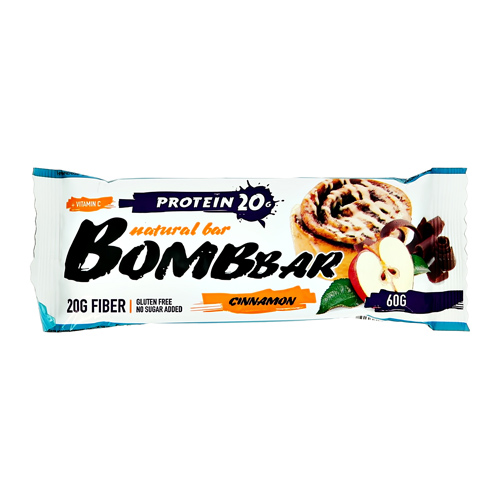 Батончик неглазированный BOMBBAR Яблоко-корица 60 г