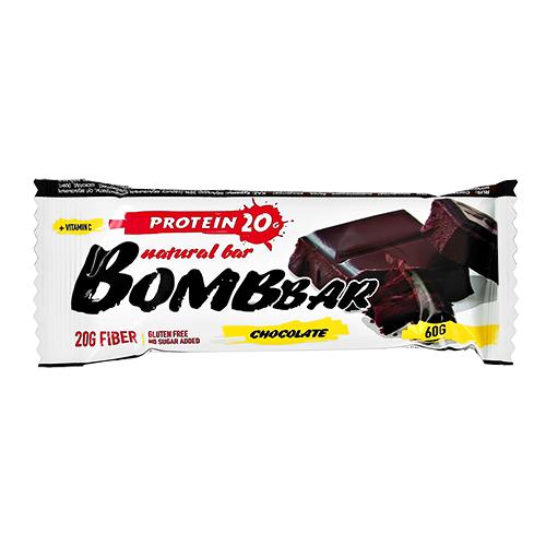 Батончик неглазированный BOMBBAR Двойной шоколад 60 г