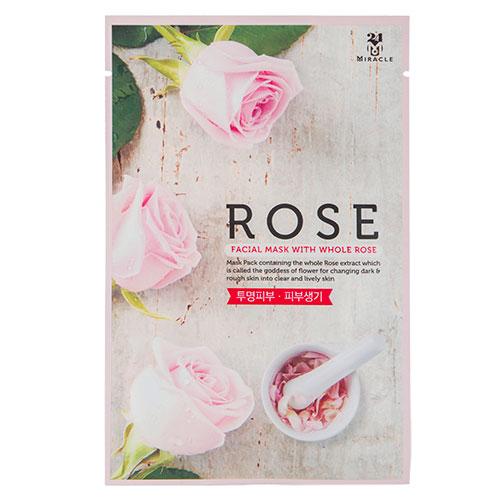 Маска для лица 24 MIRACLE с экстрактом розы 22 млМаски<br>Маска прекрасно очищает кожу и придает ей здоровый вид, благодаря экстракту розы, который эффективно увлажняет, успокаивает, улучшает микроциркуляцию, насыщает кожу витаминами и полезными микроэлементами. Экстракт малины, входящий в состав, питает и увлажняет кожу, защищает от появления морщин. Экстракт клубники способствуют регенерации кожи, действенно борется с пигментными пятнами. Экстракт клюквы усиливает усвоение кожей кислорода, помогает ей более успешно сопротивляться вредному воздействию окружающей среды.<br>