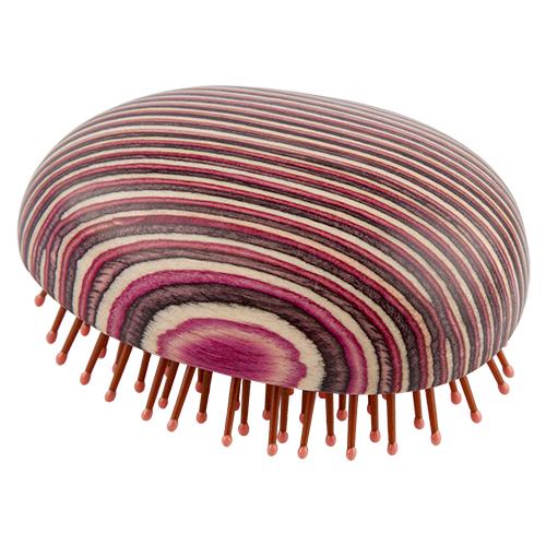 Щетка для волос LADY PINK WOOD распутывающая деревянная в полоскуРасчески<br>Массажная щетка Lady Pink подходит для расчесывания волос любой длины. Обеспечивает деликатный массаж кожи головы, улучшает микроциркуляцию.<br>