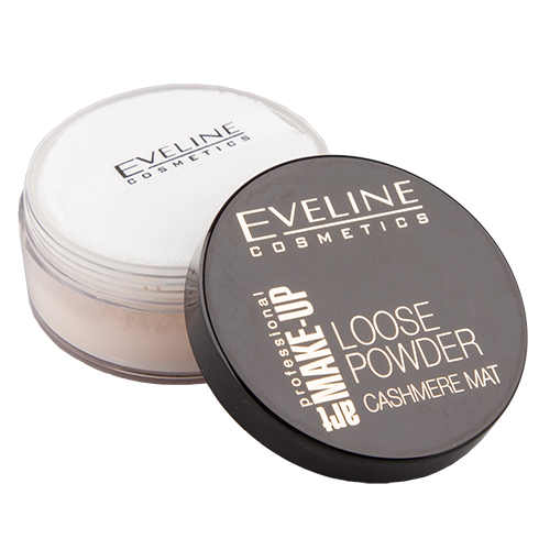 Пудра рассыпчатая для лица `EVELINE` ART PROFESSIONAL MAKE-UP тон 01 Transparent матирующая 20 гр