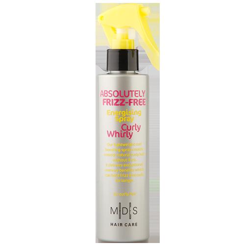 Спрей для вьющихся волос `MADES` `FRIZZ FREE` CURLY WHIRLY сохраняющий форму локонов 200 млУкладка<br>Спрей защищает волосы при температуре до 220С. Экстракт кукурузы и природные масла придают упругость локонам.  Экстракт листьев фиалки и экстракт спирулины восстанавливают водный баланс, облегчает расчесывание, питают и повышают упругость локонов. Подходит для ежедневного применения.<br>