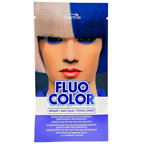 Оттеночный шампунь для волос JOANNA FLUO COLOR тон темно-синий 35 г