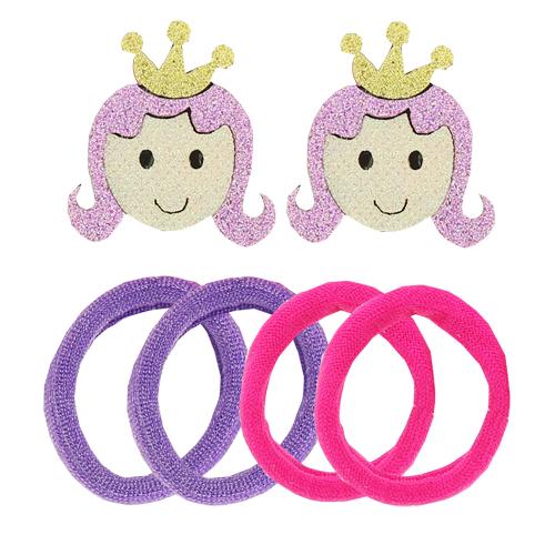 Набор (2 заколки, 4 резинки) `MISS PINKY`Наборы<br>Аксессуары для волос MISS PINKY подчеркнут красоту прически вашей маленькой модницы.<br>