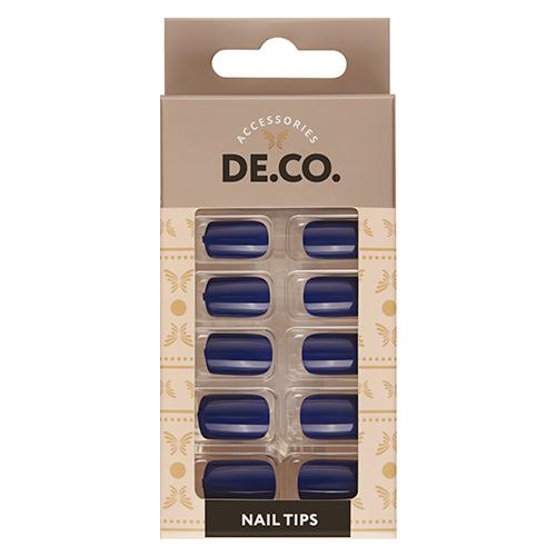 Набор накладных ногтей DE.CO. ESSENTIAL Indigo 24 шт + клеевые стикеры 24 шт
