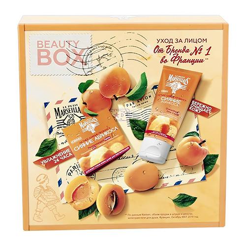 Купить Набор подарочный женский LE PETIT MARSEILLAIS гель-скраб очищающий Сияние абрикоса 150 мл, крем для лица увлажняющий Сияние абрикоса 50 мл, ФРАНЦИЯ/ FRANCE