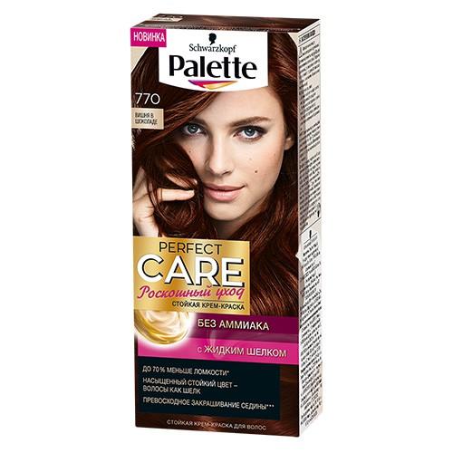 Крем-краска для волос `PALETTE` PERFECT CARE Тон 770 (Вишня в шоколаде)Окрашивание<br>Ухаживющая формула без Амииака вмсете с ухаживащим кондиционером сделают Ваши волосы мягкими и шелковистыми.<br>