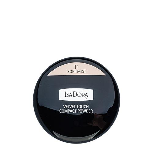 Пудра компактная для лица `ISADORA` VELVET TOUCH тон 11Пудра<br>Делает кожу матовой и визуально скрывает мелкие морщинки. Мягкий моющийся спонж в комплекте. Для всех типов кожи. Не содержит ароматизаторов<br>