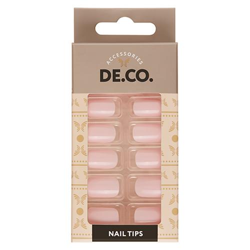 Набор накладных ногтей DE.CO. ESSENTIAL Mild pink 24 шт + клеевые стикеры 24 шт