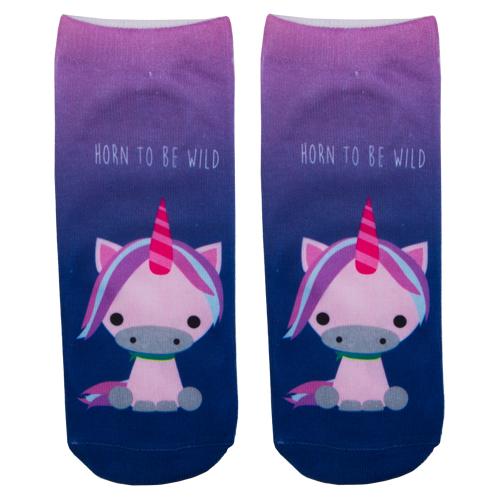Носки женские SOCKS Pink unicorn р-р единыйГольфы и носки<br>Носки женские Pink Unicorn р-р единый<br>