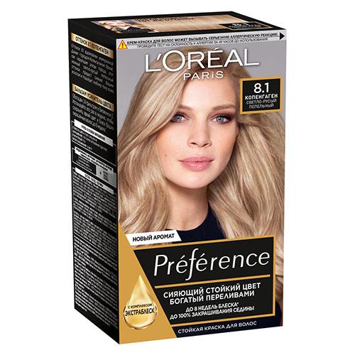Краска для волос LOREAL PREFERENCE тон 8.1/WBIS Копенгаген 40 мл фото