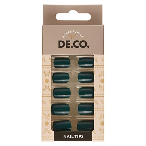 Набор накладных ногтей DE.CO. ESSENTIAL Emerald 24 шт + клеевые стикеры 24 шт