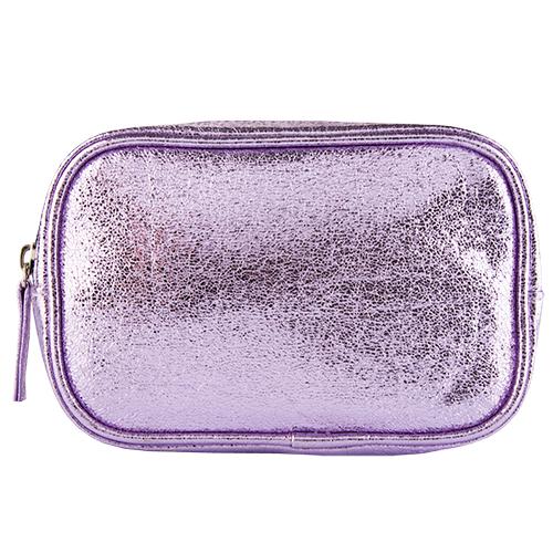 Косметичка прямоугольная LADY PINK FOIL сиреневаяКосметички<br>Косметичка Lady Pink - стильное и удобное решение для хранения косметики. Большой выбор косметичек разных форм и размеров, а также ярких дизайнов позволит легко выбрать ту, которая подходит именно тебе.<br>