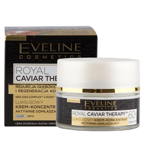Купить Крем-концентрат для лица EVELINE ROYAL CAVIAR THERAPY дневной 60+ SPF-8 для интенсивной регенерации 50 мл, ПОЛЬША/ POLAND