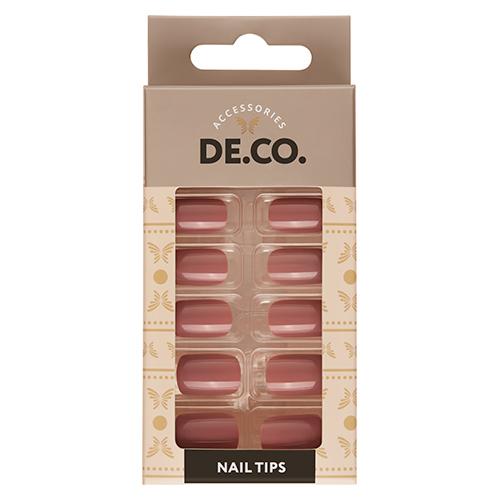Набор накладных ногтей DE.CO. ESSENTIAL Light brown 24 шт + клеевые стикеры 24 шт