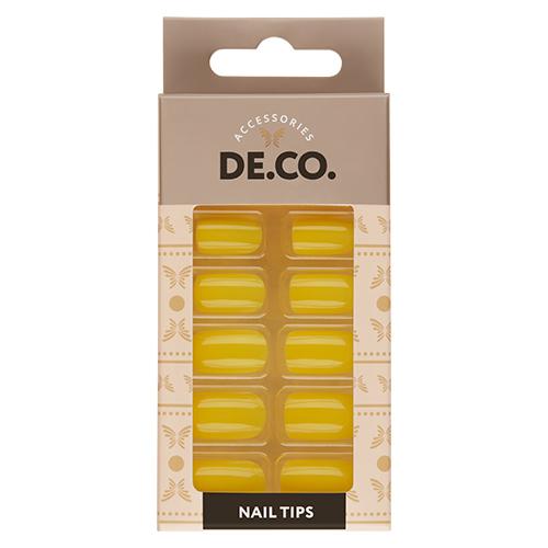 Набор накладных ногтей DE.CO. NEON yellow 24 шт+ клеевые стикеры 24 шт фото