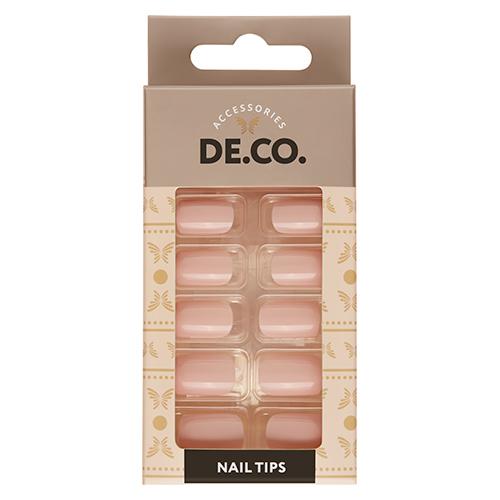 Набор накладных ногтей DE.CO. ESSENTIAL Nude 24 шт + клеевые стикеры 24 шт