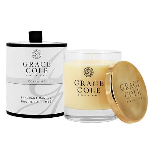Свеча ароматическая GRACE COLE WHITE NECTARINE & PEAR 200 г