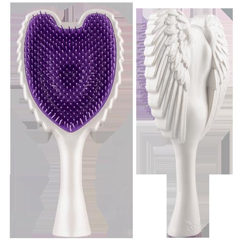 Расческа для волос `TANGLE ANGEL` Wow WhiteЩетки массажные<br>Профессиональная распутывающая расческа Tangle Angel легко и безболезненно распутывает даже самые непослушные волосы. Обладает теплостойким, антибактериальным и антистатическими свойствами. Максимально функциональная форма щетки позволяет держать ее как за «крылья», так и за ручку.<br>