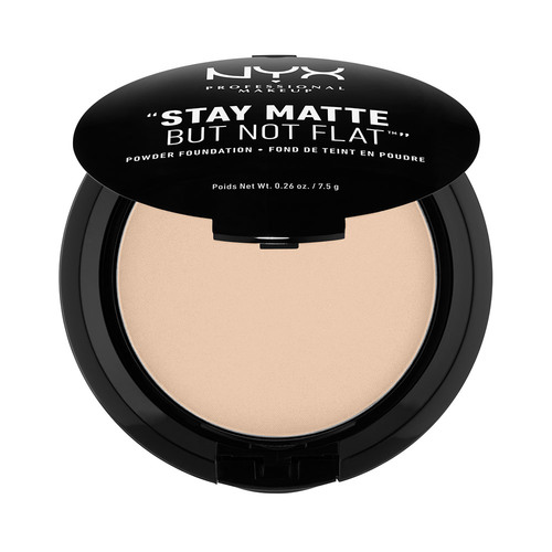 Пудра компактная для лица `NYX PROFESSIONAL MAKEUP` STAY MATTE BUT NOT FLAT тон 02 Nude
