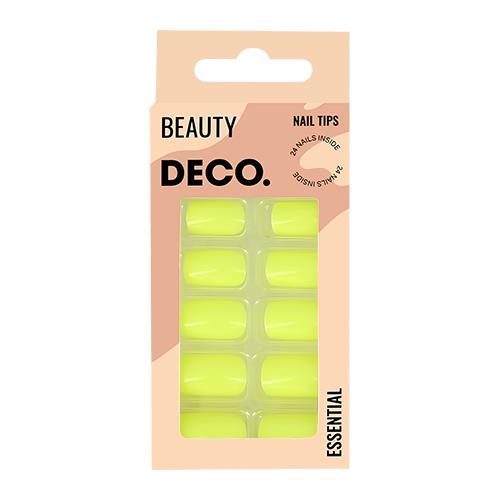 Набор накладных ногтей DECO. ESSENTIAL neon 24 шт + клеевые стикеры 24 шт