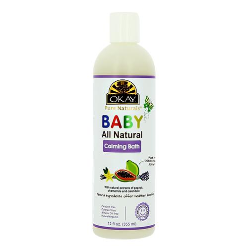 Средство для купания детское OKAY BABY успокаивающее с экстрактом папайи 355 мл