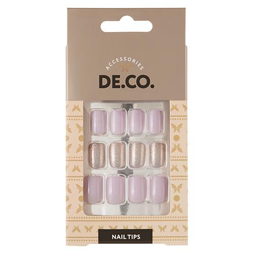 Набор накладных ногтей DE.CO. OMBRE lilac 24 шт + клеевые стикеры 24 шт