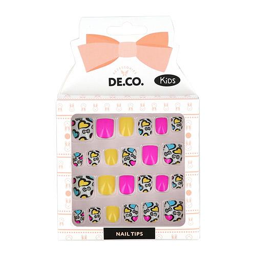Набор детских накладных ногтей DE.CO. KIDS самоклеящиеся Hearts 24 шт