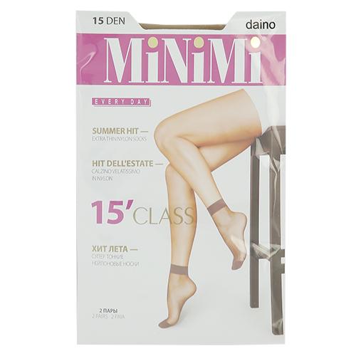 Носки женские MINIMI CLASS 15 den Daino 2 парыГольфы и носки<br>Супер тонкие и прочные летние носки из стрейч-нейлона с укрепленным мыском, с комфортной резинкой.<br>