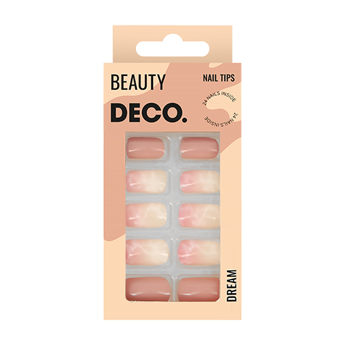 Набор накладных ногтей DECO. DREAM marble 24 шт + клеевые стикеры 24 шт