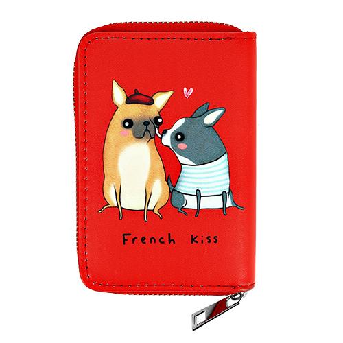 Купить Кошелек LADY PINK красный с собаками маленький, КИТАЙ/ CHINA