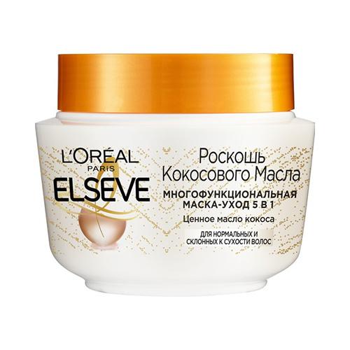 Маска для волос LOREAL ELSEVE РОСКОШЬ КОКОСОВОГО МАСЛА 5 в 1 для нормальных и склонных к сухости волос 300 мл