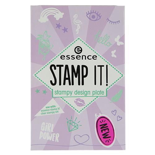 Трафарет для штампа `ESSENCE` STAMP IT 01Дизайн ногтей<br>Пластины с выгравированными рисунками для создания бесчисленного множества дизайнов ногтей. На одной ты найдешь изображения в стиле крутой девчонки, на другой – различные геометрические узоры с минималистичным дизайном. Создать маникюр, достойный Instagram, очень просто: покрой выбранным лаком нужный рисунок, прижми к нему силиконовый штамп, чтобы на нем отпечатался рисунок, а затем прокатывающим движением перенеси «штамп» на ноготь.<br>