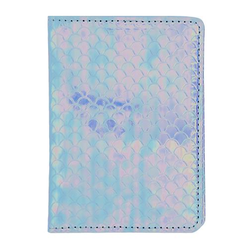 Купить Обложка для паспорта LADY PINK MERMAID перламутровая голубая, КИТАЙ/ CHINA
