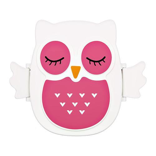 Ланч-бокс `FUN` owl pink premium