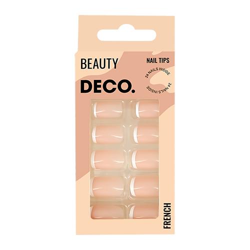 Набор накладных ногтей DECO. FRENCH pink 24 шт + клеевые стикеры 24 шт