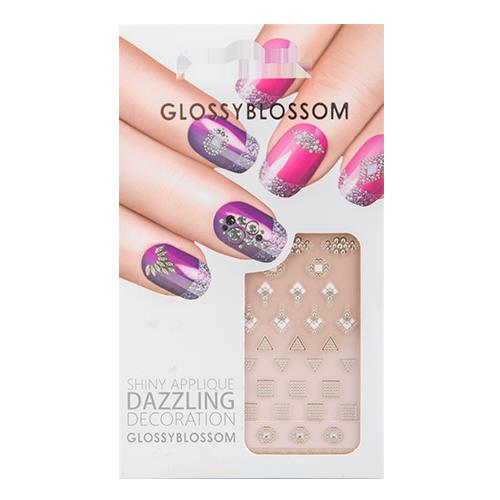Наклейки для ногтей `GLOSSYBLOSSOM` DAZZLING DECORATION  цветы, камниДизайн ногтей<br>Декоративные украшения для ногтей GlossyBlossom помогут сделать Ваш маникюр необычным, ярким и современным!<br>